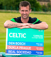24/06/15<br /> LENNOXTOWN<br /> Celtic manager Ronny Deila promotes the club's programme of pre-season matches at St. Mirren Park.