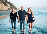 Beach family photos by family portrait photographer in Santa Barbara.