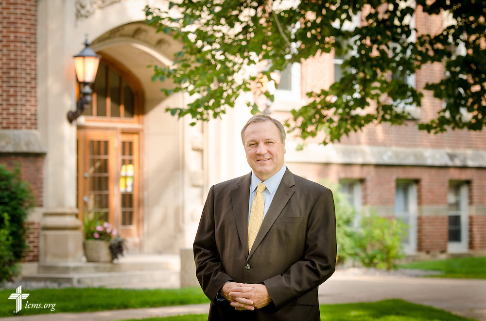 A portrait of the Rev. Tom Ries, president at Concordia University, Saint Paul, on Wednesday, August 6, 2014, in St. Paul, Minn.   LCMS Communications/Erik M. Lunsford