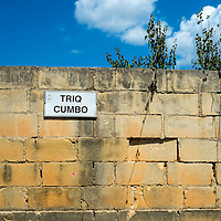 Triq Cumbo alley lane road to Mosta,<br />Malta, Europe.<br />Summer 2016.