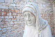 Sculpture of Maria Teresa by Petar Jaksic, beside the Parish Church in Supetar, on the island of Brac, Croatia