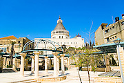 Israel, Nazareth, Exterior of the Basilica of the Annunciation
