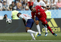 NIZHNY NOVGOROD, June 24, 2018  Raheem Sterling (L) of England vies with Eric Davis of Panama during the 2018 FIFA World Cup Group G match between England and Panama in Nizhny Novgorod, Russia, June 24, 2018. (Credit Image: © Cao Can/Xinhua via ZUMA Wire)