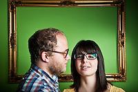 Portrait of musicians Beth Bombara and Kit Hamon (personal work)