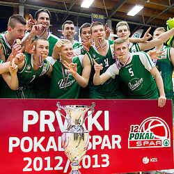 20130210: SLO, Basketball -Final match of Slovenian Spar Cup, KK Union Olimpija vs KK Helios Domzale
