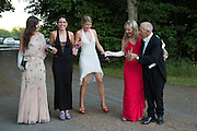 MAUDE FRASER; IONA FRASER; EMERALD FRASER; LUCY FRASER; RICHARD TAYLOR, Richard Taylor's 69th birthday party.  Whithurst Park. West Sussex.  3 August 2013