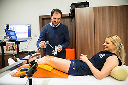 Portrait of dr. Mitja Bracic, manager of Global Sports Clinic and volleyball player Erika Fabjan, on April 14, 2017 in Ljubljana, Slovenia. Photo by Vid Ponikvar / Sportida