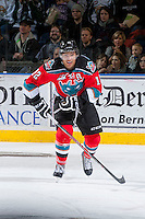 KELOWNA, CANADA - DECEMBER 6: Tyrell Goulbourne #12 of the Kelowna Rockets skates against the Everett Silvertips on December 6, 2013 at Prospera Place in Kelowna, British Columbia, Canada.   (Photo by Marissa Baecker/Shoot the Breeze)  ***  Local Caption  ***