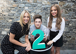 Repro Free: 11/09/2014<br /> Blathnaid Treacy and Stephen Byrne with Diana Bunici pictured at the RT&Eacute; Two New Season Launch in Gateway House, Capel Street. Picture Andres Poveda