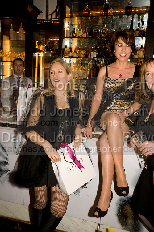 IMOGEN EDWARDS-JONES; KATHY LETTE, Book party; Jessica Adams, Maggie Alderson, Imogen Edwards-Jones and Kathy Lette host the launch of 'In Bed With.' Artesian, The Langham, Portland Place. London. 11 February 2009 *** Local Caption *** -DO NOT ARCHIVE-© Copyright Photograph by Dafydd Jones. 248 Clapham Rd. London SW9 0PZ. Tel 0207 820 0771. www.dafjones.com.<br /> IMOGEN EDWARDS-JONES; KATHY LETTE, Book party; Jessica Adams, Maggie Alderson, Imogen Edwards-Jones and Kathy Lette host the launch of 'In Bed With.' Artesian, The Langham, Portland Place. London. 11 February 2009