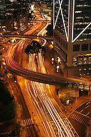 China  Hong Kong Blurred traffic at night