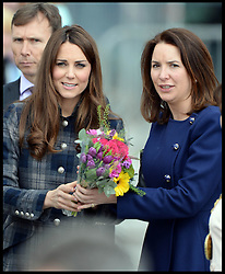 File photo - The Duchess' private secretary Rebecca Deacon. <br /> The Duke and Duchess of Cambridge will not be hiring a nanny to help them with looking after their newborn son but instead will have members of staff such as Rebecca Deacon to assist. <br /> The Duchess of Cambridge gave birth to her newborn son at St.Mary's hospital in London on Monday, 22nd July, 2013.<br /> Tuesday, 23rd July 2013<br /> Picture by Andrew Parsons / i-Images<br /> <br /> The Duchess of Cambridge with Rebecca Deacon her Private Secretary on a visit with the Duchess to Glasgow, Scotland, April 4, 2013. Photo By Andrew Parsons / i-Images