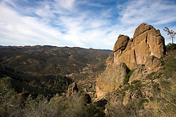 Rock formations along the Tunnel Trail up to High Peaks, Pinnacles National Monument, California, United States of America