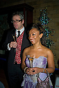Mark Mitchinson and Denyse Busby-Earle. Save the Children's Festival of Trees Gala dinner. Natural History Museum. London. 4 December 2007. -DO NOT ARCHIVE-© Copyright Photograph by Dafydd Jones. 248 Clapham Rd. London SW9 0PZ. Tel 0207 820 0771. www.dafjones.com.
