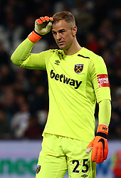 April 16, 2018 - London, England, United Kingdom - West Ham United's Joe Hart.during English Premier League match between West Ham United and Stoke City at London stadium, London, England on 16 April 2018. (Credit Image: © Kieran Galvin/NurPhoto via ZUMA Press)