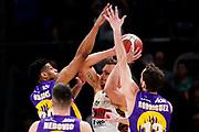 ILCE-9M2 • FE 400mm F2.8 GM OSS<br /> f/3.5 • ISO 3200 • 1/1250<br /> <br /> TonutStefano <br /> A|X Armani Exchange Milano - Umana Reyer Venezia <br /> LBA Final Eight 2020 Zurich Connect - Semifinale<br /> Basket Serie A LBA 2019/2020<br /> Pesaro, Italia - 15 February 2020<br /> Foto Mattia Ozbot / CiamilloCastoria