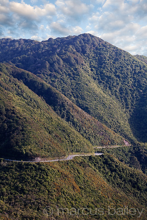 State highway 2 winding through the Rimutaka ranges, Upper Hutt, New Zealand.