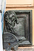 Sculpture of Jan Matejko, 19th century Polish painter, Krakow, Poland,