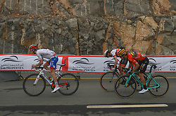 March 1, 2019 - Jebel Jais, United Arab Emirates - The Red Jersey, Primoz Roglic (1st Right) of Slovenia and Team Jumbo - Visma, by Tom Dumoulin (Left) on his way to win the sixth Rak Properties Stage of UAE Tour 2019, a 180km with a start from Ajman and finish in Jebel Jais. .On Friday, March 1, 2019, in Jebel Jais, Ras Al Khaimah Emirate, United Arab Emirates. (Credit Image: © Artur Widak/NurPhoto via ZUMA Press)