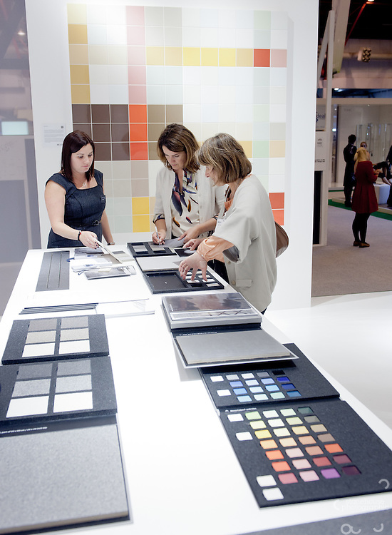 Mosa Tiles stand at The 100% Design show, Earls Court..Photographs by Richard Stonehouse / Stonehouse Photographic.07714159589.www.stonehousephotographic.com