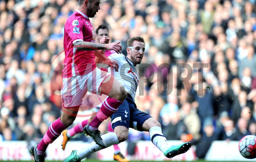 Harry Kane of Tottenham Hotspur scores  - Mandatory by-line: Paul Knight/JMP - Mobile: 07966 386802 - 20/03/2016 -  FOOTBALL - White Hart Lane - London, England -  Tottenham Hotspur v AFC Bournemouth - Barclays Premier League