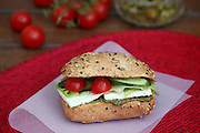 cheese sandwich with tomato and cucumber