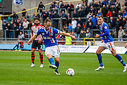 Carlisle United Defender Danny Grainger passing back during the Sky Bet League 2 match between Carlisle United and Exeter City at Brunton Park, Carlisle, England on 17 October 2015. Photo by Craig McAllister.