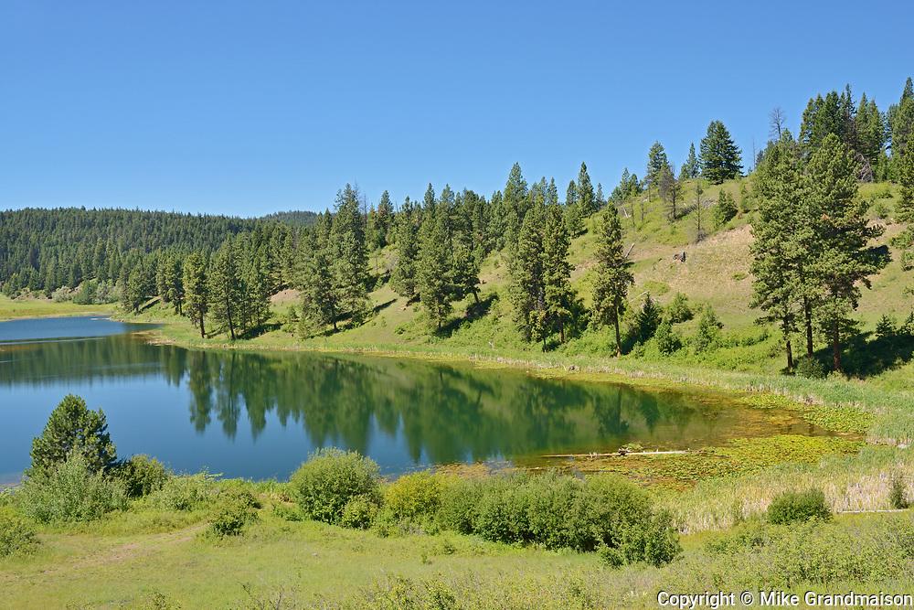 Taylor Lake at the Gulliford Rest Area, Near Princeton, British Columbia, Canada