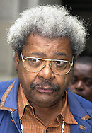 Boxing promoter Don King is seen outside City Hall, Wednesday, October 9, 2002, in Philadelphia. (Photo by William Thomas Cain/photodx.com)