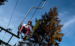 28.01.2017, Casino Arena, Seefeld, AUT, FIS Weltcup Nordische Kombination, Seefeld Triple, Skisprung, im Bild Eric Frenzel (GER) // Eric Frenzel of Germany on the lift before his Competition Jump of Skijumping of the FIS Nordic Combined World Cup Seefeld Triple at the Casino Arena in Seefeld, Austria on 2017/01/28. EXPA Pictures © 2017, PhotoCredit: EXPA/ JFK