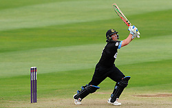 Sussex's Harry Finch drives the ball off the bowling of Somerset's Alfonso Thomas Photo mandatory by-line: Harry Trump/JMP - Mobile: 07966 386802 - 22/05/15 - SPORT - CRICKET - Natwest T20 Blast - Somerset v Sussex Sharks - The County Ground, Taunton, England.