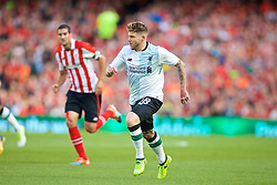 DUBLIN, REPUBLIC OF IRELAND - Saturday, August 5, 2017: Liverpool's Alberto Moreno during a preseason friendly match between Athletic Club Bilbao and Liverpool at the Aviva Stadium. (Pic by David Rawcliffe/Propaganda)