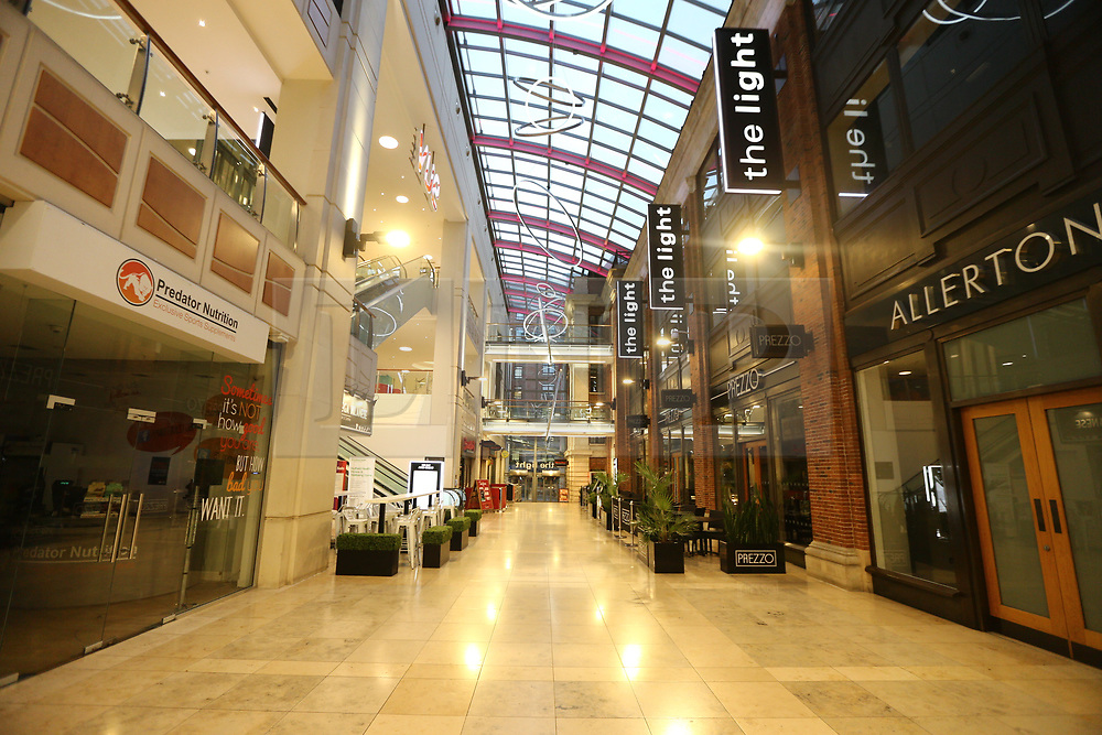 © Licensed to London News Pictures. 24/11/2017. Leeds, UK. Picture shows the empty The Light shopping centre in Leeds this morning on Black Friday. Photo credit: Andrew McCaren/LNP