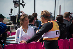 2012 Olympic Games London / Weymouth<br /> Finn Medal Race<br /> Hoegh-Christensen Jonas, (DEN, Finn) giving interview after the medal race