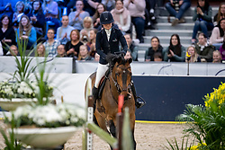 KARLSSON Irma (SWE), Chacconu<br /> Göteborg - Gothenburg Horse Show 2019 <br /> Gothenburg Trophy presented by VOLVO<br /> Int. jumping competition with jump-off (1.55 m)<br /> Longines FEI Jumping World Cup™ Final and FEI Dressage World Cup™ Final<br /> 06. April 2019<br /> © www.sportfotos-lafrentz.de/Stefan Lafrentz