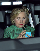 Dec. 10, 2015 - New York City, NY, USA - <br /> <br /> Politician Hillary Clinton leaving the set of the TV show 'Broad City' <br /> ©Exclusivepix Media