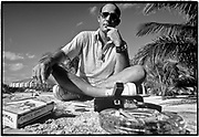 March 11~14, 1974  •  Cozumel, Mexico  •  the Playboy interview at El Presidente Hotel, sitting on the seawall around 11:00AM  •  Craig Vetter-writer  •  K25