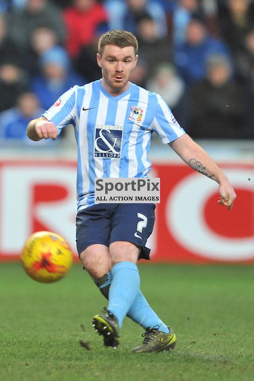 John Fleck Coventry City, Coventry City, Coventry City v Burton Albion, Ricoh Arena,  Sky Bet League 1, Saturday 16th JJanuary 2016, (Mike Capps/Sportpix)