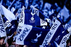 Tottenham Hotspur fans wave flags - Mandatory by-line: Robbie Stephenson/JMP - 30/04/2019 - FOOTBALL - Tottenham Hotspur Stadium - London, England - Tottenham Hotspur v Ajax - UEFA Champions League Semi-Final 1st Leg
