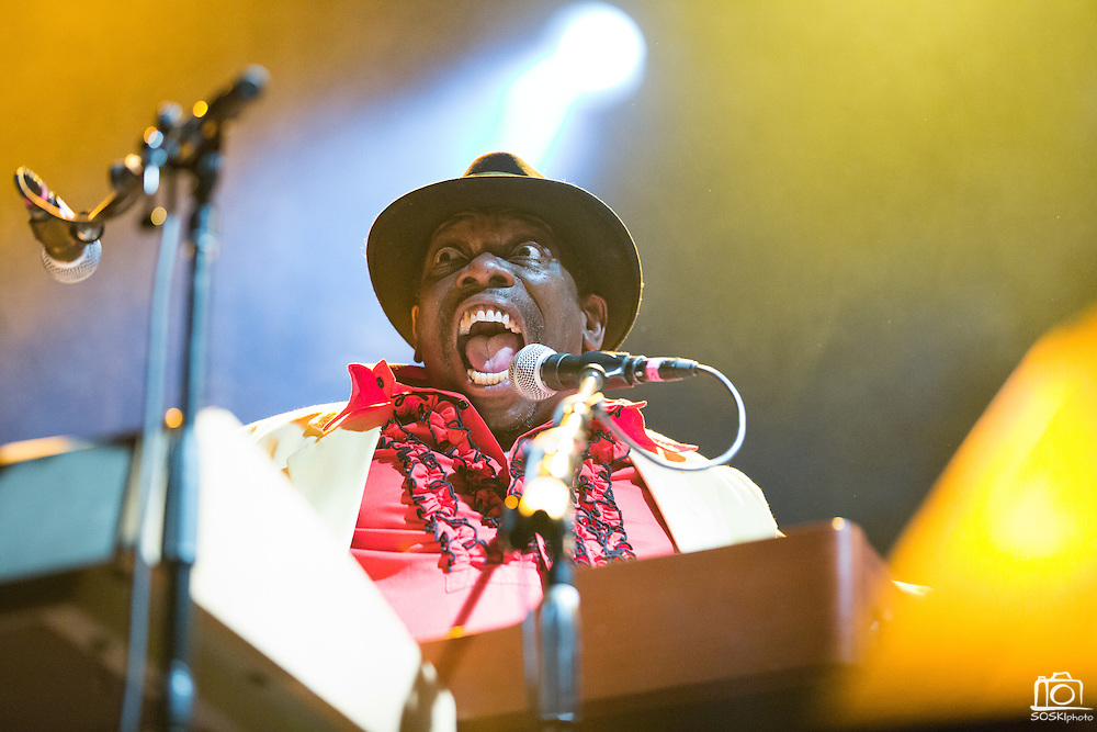 Lucky Peterson plays the keys during his headline performance at the Granada Theater in Dallas, Texas, on January 11, 2013.  (Stan Olszewski/The Dallas Morning News)