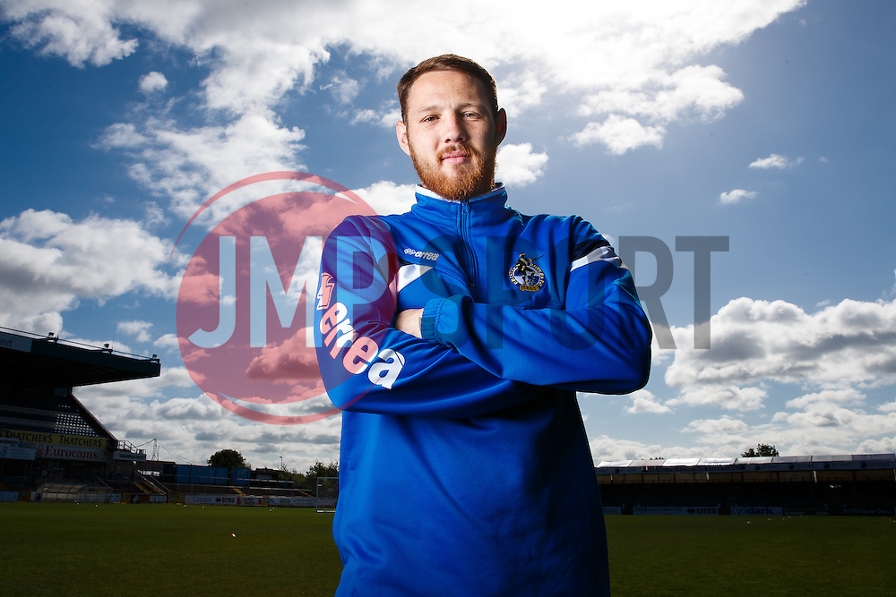 Tom Parkes of Bristol Rovers poses during a media session before Sundays Vanamara Conference Play Off Final match against Grimsby Town at Wembley Stadium for promotion to the Football League 2 - Photo mandatory by-line: Rogan Thomson/JMP - 07966 386802 - 12/05/2015 - SPORT - FOOTBALL - Bristol, England - Memorial Stadium - Bristol Rovers Play Off Final Previews - Vanarama Conference Premier.