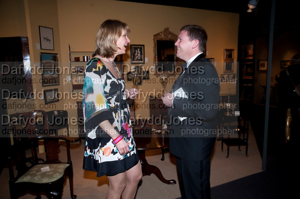 LENA BJORCK; SIMON SWIFT, Bada Antiques Fine art Fair charity Gala. In aid of Leukaemia and Lymphoma Research. 18 March 2010.