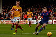 David Turnbull of Motherwell looking to score during the Ladbrokes Scottish Premiership match between Motherwell and Heart of Midlothian at Fir Park, Motherwell, Scotland on 17 February 2019.