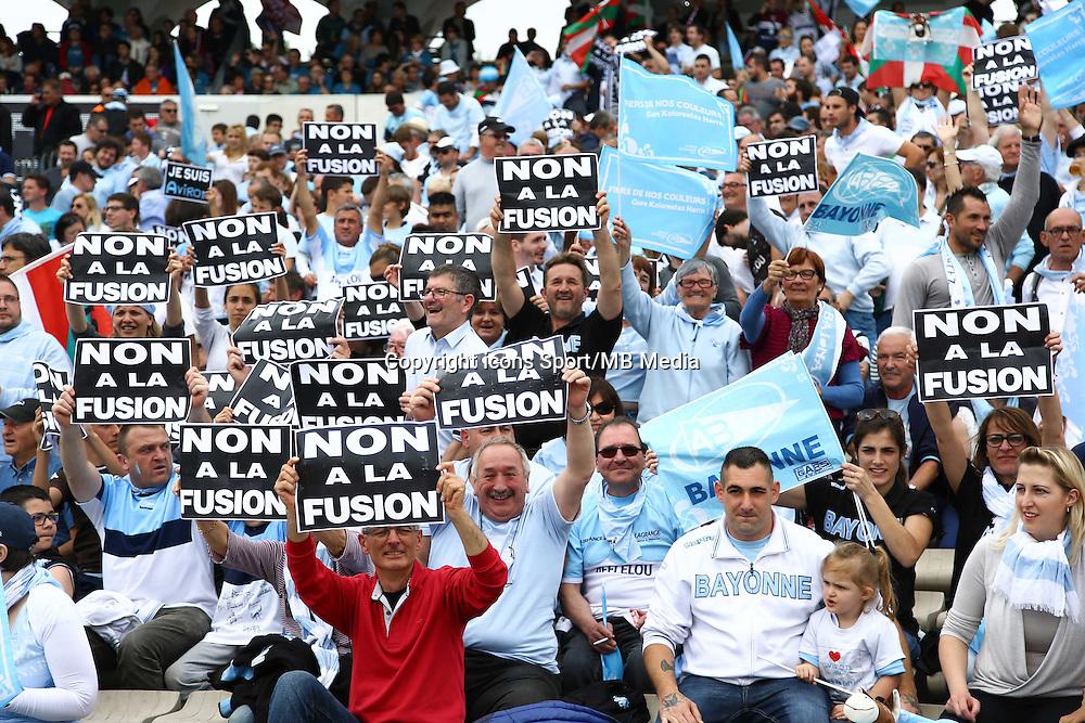 Supporters Bayonne - 16.05.2015 - Bordeaux Begles / Bayonne - 25eme journee de Top 14<br />Photo : Manuel Blondeau / Icon Sport