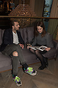 ADAM GUEST; RACHAEL JEVONS, Spectator Life - 3rd birthday party. Belgraves Hotel, 20 Chesham Place, London, SW1X 8HQ, 31 March 2015