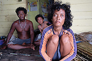LINGGA, INDONESIA - <br /> <br /> Sea Tribe Children in Indonesia, Last Nomad Tribe Sea in Indonesia<br /> <br /> Potrait of family of sea tribal or called sea people at Tajur Biru island in Lingga, Riau Islands province, Indonesia.<br /> Sea Tribe or called sea people who inhabit Tajur Biru Island, Lingga Regency, Riau Islands Province - Indonesia, sea people is the last existing tribe. <br /> only 15 families 52 people in total. Sea people are wandering tribes who live in the sea. The indigenous people called the sea because it has characteristics specific life, such as family life in the boat and wander along the waters.<br /> Historically, Sea People used to be a pirate, but it plays an important role in the kingdom of Srivijaya, the Sultanate of Malacca and Johor Sultanate. They keep the straits, repel pirates, guiding traders to harbor , and maintain their hegemony in the region.<br /> ©Exclusivepix Media
