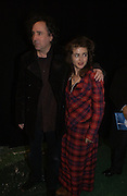 """TIM BURTON AND HELENA BONHAM-CARTER. World Premiere of the theatrical production of """"Edward Scissorhands"""" at Sadler's Wells Theatre in London. 30 November 2005. ONE TIME USE ONLY - DO NOT ARCHIVE  © Copyright Photograph by Dafydd Jones 66 Stockwell Park Rd. London SW9 0DA Tel 020 7733 0108 www.dafjones.com"""