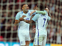 Football - 2016 / 2017 International Friendly - England vs. Spain<br /> <br /> Jesse Lingard of England celebrates Jamie Vardy goal at Wembley.<br /> <br /> COLORSPORT/ANDREW COWIE