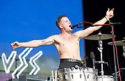 Slaves <br /> performing at House of Common Festival on Clapham Common, London, Great Britain <br /> 28th August 2017 <br /> <br /> <br /> Slaves perform at House of Common Festival <br /> <br /> Photograph by Elliott Franks <br /> Image licensed to Elliott Franks Photography Services
