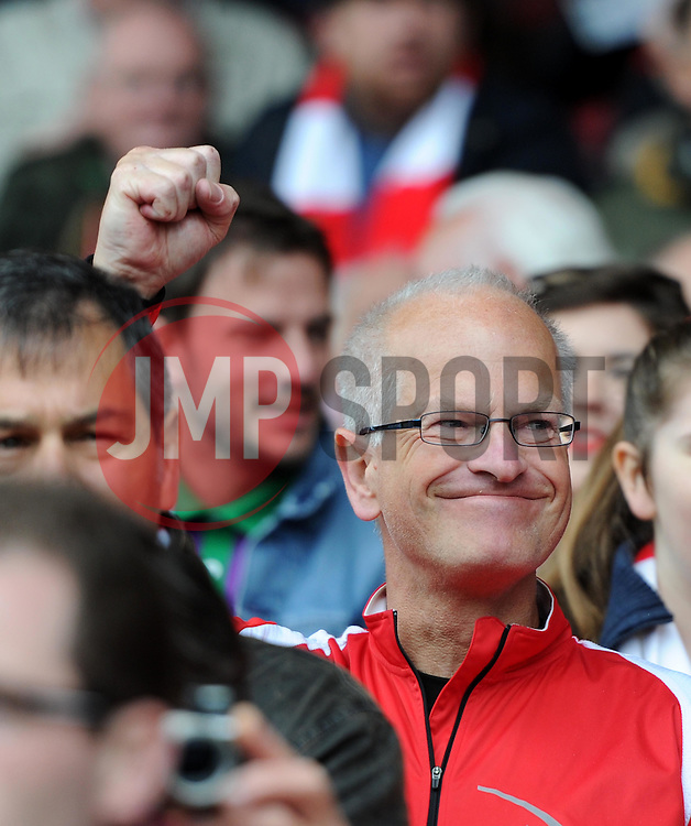 Spectator at the Sky Bet League One match between Bristol City and Walsall at Ashton Gate on 3 May 2015 in Bristol, England - Photo mandatory by-line: Paul Knight/JMP - Mobile: 07966 386802 - 03/05/2015 - SPORT - Football - Bristol - Ashton Gate Stadium - Bristol City v Walsall - Sky Bet League One